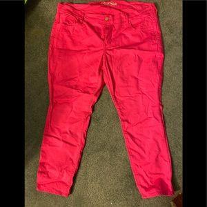 Old Navy Rockstar Pink Jeans sz 20